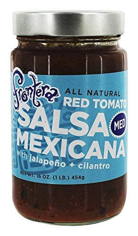 Frontera Foods Medium Chunky Tomato Dipping Salsa, 16 Ounce - 6 per case.