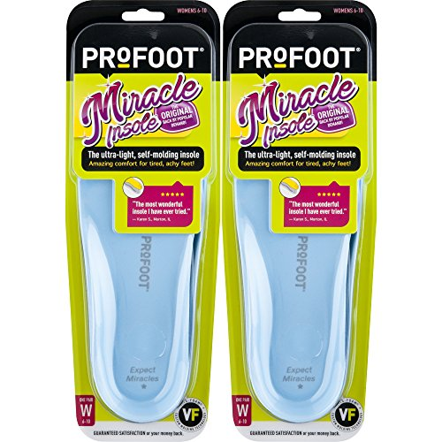 ProFoot Original Miracle Molding Insoles, Women's 6-10, 2 Pair (Colors May Vary)