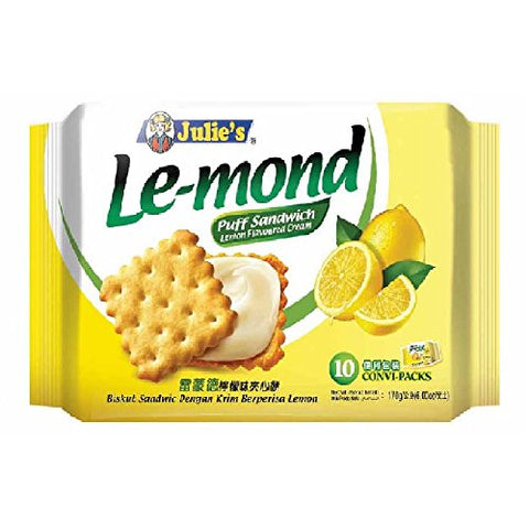 Julie's Cream Puff Sandwich (628MART) (Le-mond Lemon Flavoured, 10 Convi-Packs)