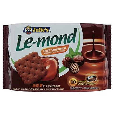 Julie's Cream Puff Sandwich (628MART) (Le-Mond Chocolate Cream, 10 Convi-Packs)
