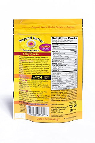 Beyond Better Cashew Spicy Queso Cheese Alternative (4 Pack) Gluten Free Soy Free Grain Free