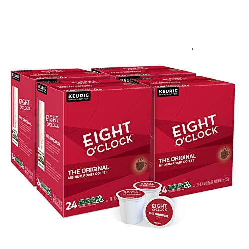 Eight O'Clock Coffee The Original, Single-Serve Keurig K-Cup Pods, Medium Roast Coffee, 96 Count