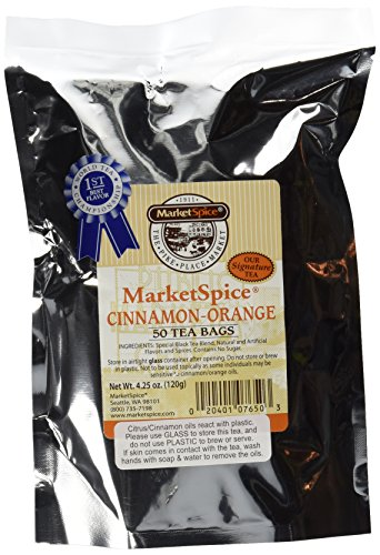 MarketSpice cinnamon-orange Teabags 50 Pack