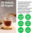 Image of Sayan Siberian Chaga Mushroom Tea Organic Antioxidant Caffeine Free, Raw and Extract Blend, No Fillers Unbleached 20 Bag, Wild Harvested for Focus Concentration Energy Boost and Immune Support, Detox
