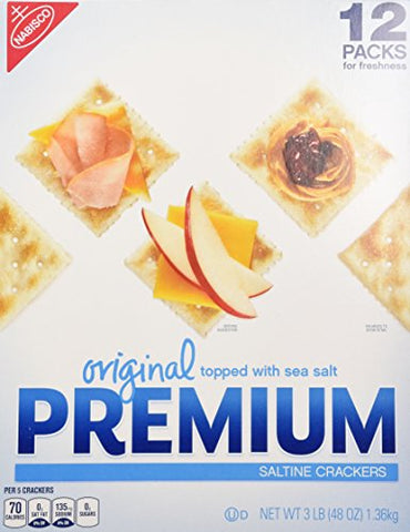 Original Premium Saltine Crackers Topped with Sea Salt