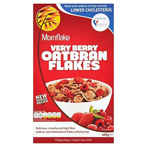 Mornflake Oatbran Flakes Very Berry 400g