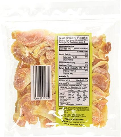 Trader Joe's Dried Fruit Soft & Juicy Mandarins 6 Oz, (Pack of 5)