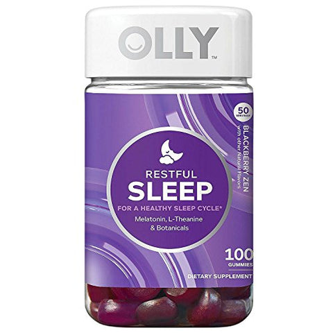 OLLY Restful Sleep Blackberry Zen Flavor - 100 Gummies