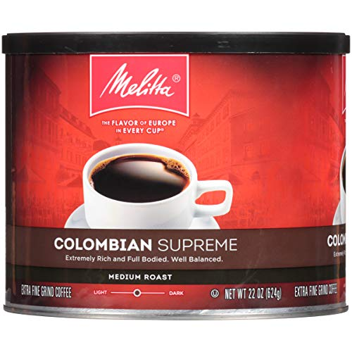 Melitta Coffee, Colombian Supreme Ground, Medium Roast, 22-Ounce