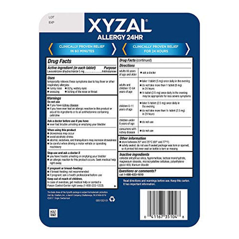 Xyzal Allergy 24 Hour (110 ct.)
