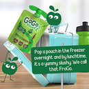 Image of GoGo squeeZ Applesauce, Apple Cinnamon, 3.2 Ounce (12 Pouches), Gluten Free, Vegan Friendly, Unsweetened Applesauce, Recloseable, BPA Free Pouches