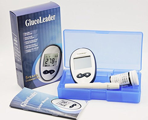 New!! Blood Glucose Meter with Blood Collection Needle Test Strips 50pcs+50pcs Disposables Blood Sugar Meter Monitor Diabetics