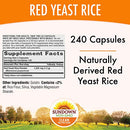 Image of Sundown Red Yeast Rice 1200 mg Capsules (240 Count), Naturally Derived, Gluten Free, Dairy Free, Non-GMO, Free of Gluten, Dairy, Artificial Flavors (Packaging May Vary)