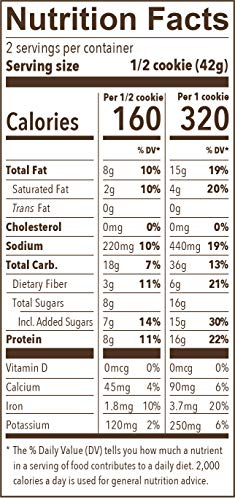 Munk Pack - Double Dark Chocolate - 2.96 oz Protein Cookie 6 Pack | Vegan, Gluten Free, 18g of Protein per Cookie