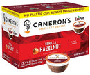 Image of Cameron's Coffee Single Serve Pods, Flavored, Vanilla Hazelnut, 12 Count (Pack of 1)