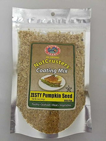 Zesty Pumpkin Seed With Flax NutCrusters Gourmet Coating Mix 5 oz