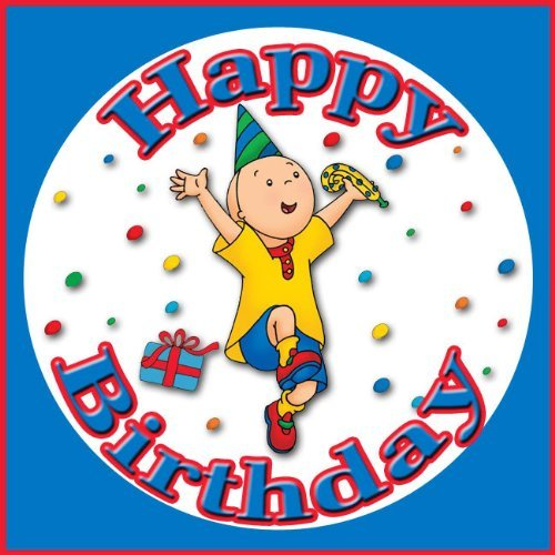 Caillou Happy Birthday Edible Image Frosting Sheet Cake Topper