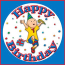 Image of Caillou Happy Birthday Edible Image Frosting Sheet Cake Topper