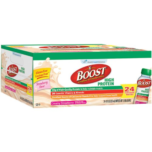 Boost High-Protein Drink, Strawberry, 192 fl oz /24ct x2 AS