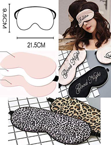 Natural Silk Sleep Mask & Blindfold Super-Smooth Eye Mask Eye Cover, Leopard Print#553