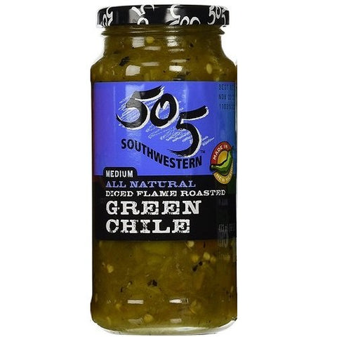 505 Southwestern 16oz Jar (Select Flavor Below) (Diced Flame Roasted Green Chile - Medium) (3-Pack)