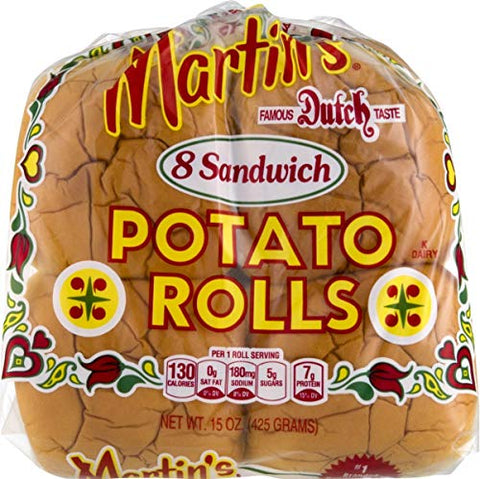 Martin's Potato Sandwich Rolls- 8pk 15 oz. Bag (3 Bags)