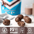 Image of Iconic Protein Powder, Chocolate Truffle, 1 Lb (17 Serving) | Sugar Free, Low Carb Protein Shake | 20g Grass Fed Whey Protein & Casein | Lactose Free, Gluten Free, Kosher, Non-GMO | Keto Friendly