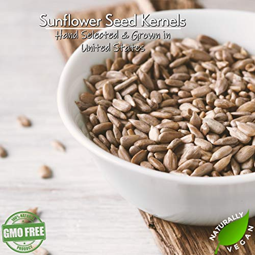 GERBS Lightly Sea Salted Sunflower Seed Kernels, 64 ounce Bag, Roasted, Top 14 Food Allergen Free, Non GMO, Vegan, Keto, Paleo Friendly