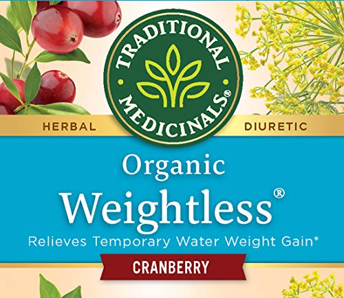 Traditional Medicinals Organic Weightless Cranberry Women's Tea, 16 Tea Bags (Pack of 6)