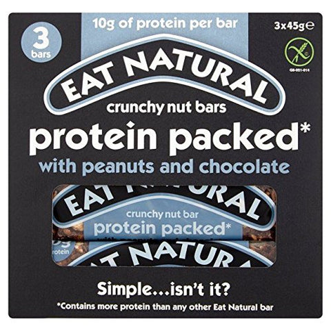 Eat Natural Gluten Free Protein Packed Multipack 3 x 45g