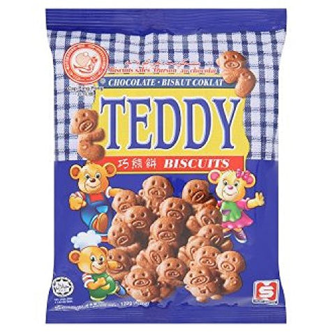 Ping Pong Teddy Chocolate Biscuits 120g (628MART) (1 Pack)