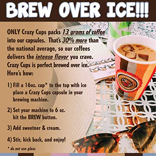 Flavored Coffee in Single Serve Coffee Pods - Flavor Coffee Variety Pack for Keurig K Cups Machine from Crazy Cups, 30 Count