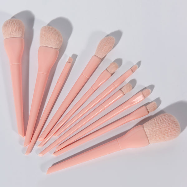 Peach Makeup Brush Set