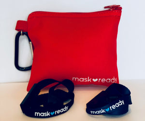 New Pouch - Mask Ready Kit (Red)