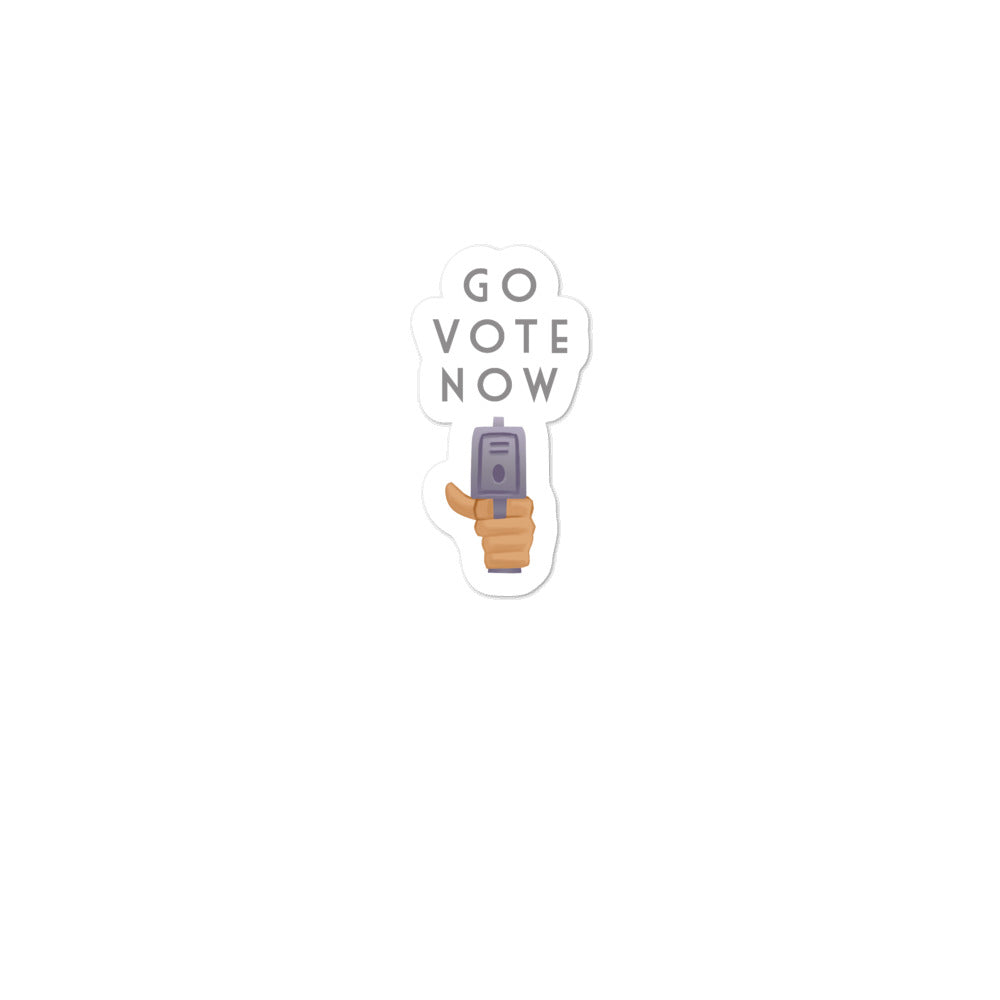 Go Vote Now! stickers