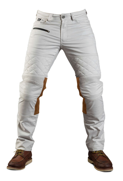 Fuel Motorcycles Sergeant Colonial Pants white motorcycle riding gear at Dude Bikes shop