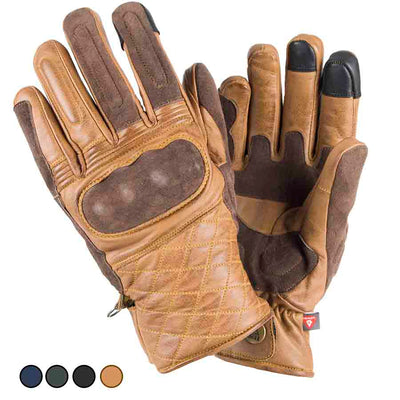 brown motorcycle gloves