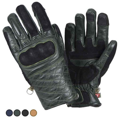 green leather motorcycle gloves
