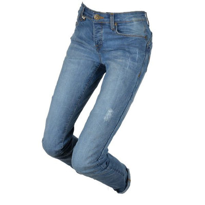 blue motorcycle jeans for women at dude bikes