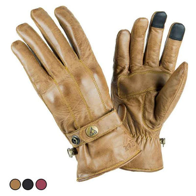 brown leather motorcycle gloves for women