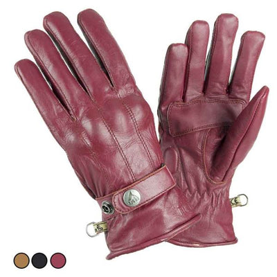 red leather motorcycle gloves for women