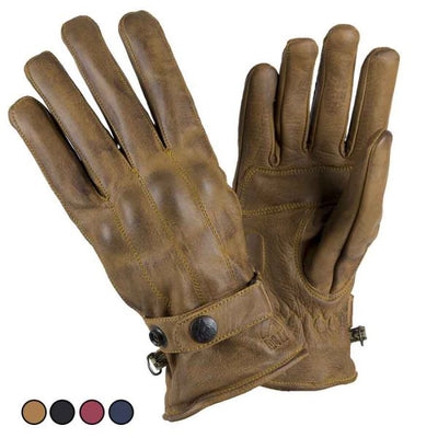 brown leather motorcycle gloves for men at dude bikes