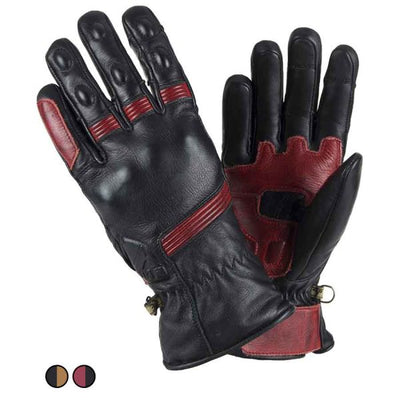 black and red leather motorcycle gloves at dude bikes