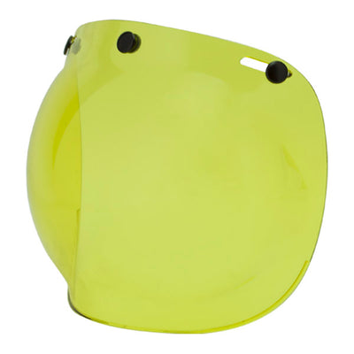 Yellow Bubble Two Strokes Visor for Motorcycle Helmet. More staff at Dude Bikes
