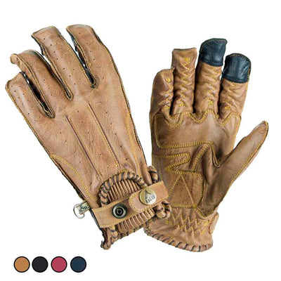 By City Second Skin leather motorcycle gloves for women