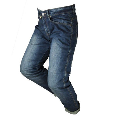 classic blue motorcycle jeans for men at dude bikes