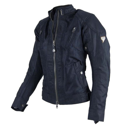 classic black motorcycle jacket for women at dude bikes