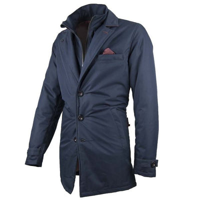 classic motorcycle trench coat for men