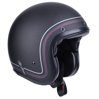 Two Strokes Matt Black Motorcycle Helmet - affordable riding gear at Dude Bikes