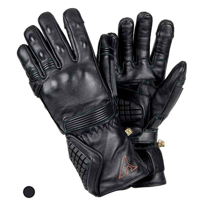 black leather winter motorcycle gloves
